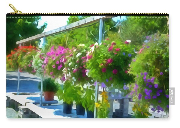 Colorful Large Hanging Flower Plants  4 Carry-all Pouch