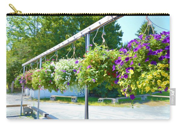 Colorful Large Hanging Flower Plants 6 Carry-all Pouch