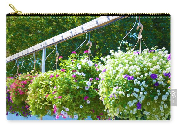 Colorful Large Hanging Flower Plants 8 Carry-all Pouch