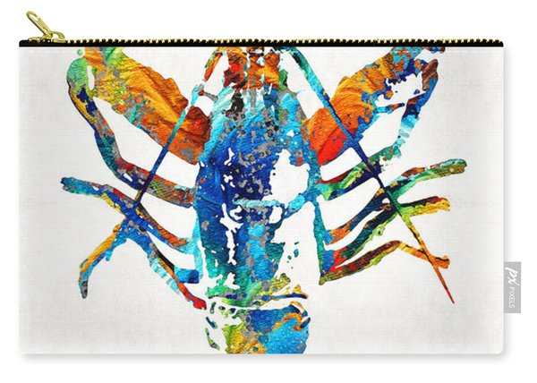 Colorful Lobster Art By Sharon Cummings Carry-all Pouch