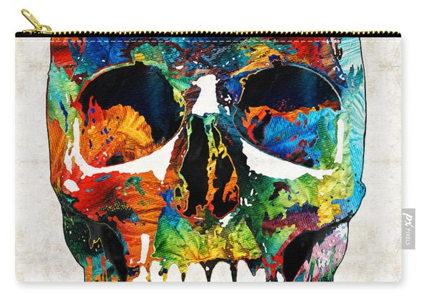 Colorful Skull Art - Aye Candy - By Sharon Cummings Carry-all Pouch