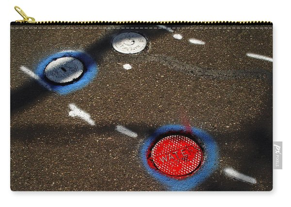 Colorful Storm Drain Covers And White Carry-all Pouch