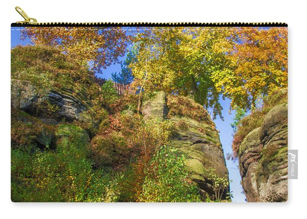 Colorful Trees In The Elbe Sandstone Mountains Carry-all Pouch