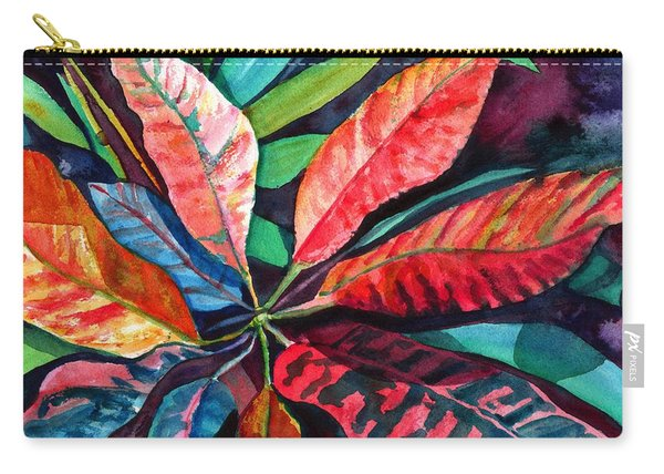 Colorful Tropical Leaves 2 Carry-all Pouch