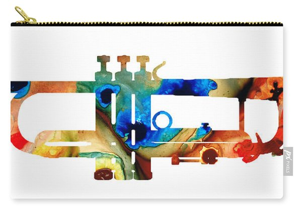 Colorful Trumpet Art By Sharon Cummings Carry-all Pouch