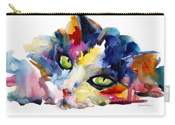 Colorful Tubby Cat Painting Carry-all Pouch