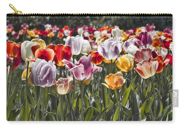 Colorful Tulips In The Sun Carry-all Pouch