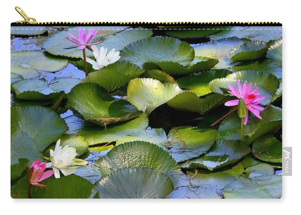 Colorful Water Lily Pond Carry-all Pouch