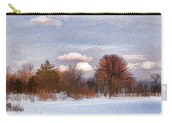 Colorful Winter Morning On The Lake Carry-all Pouch