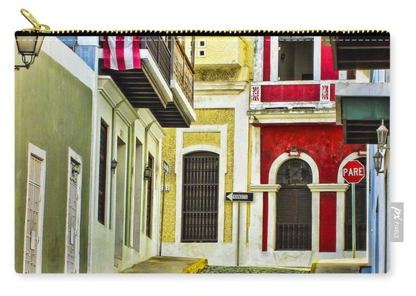 Colors Of Old San Juan Puerto Rico Carry-all Pouch