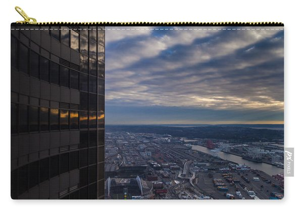 Columbia Center Skies Reflected Carry-all Pouch
