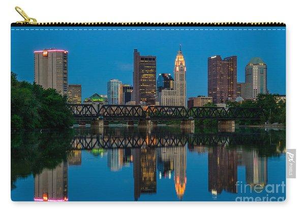 Columbus Ohio Night Skyline Photo Carry-all Pouch