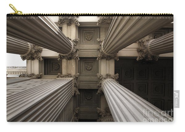 Columns At The National Archives In Washington Dc Carry-all Pouch
