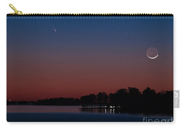 Comet Panstarrs And Crescent Moon Carry-all Pouch