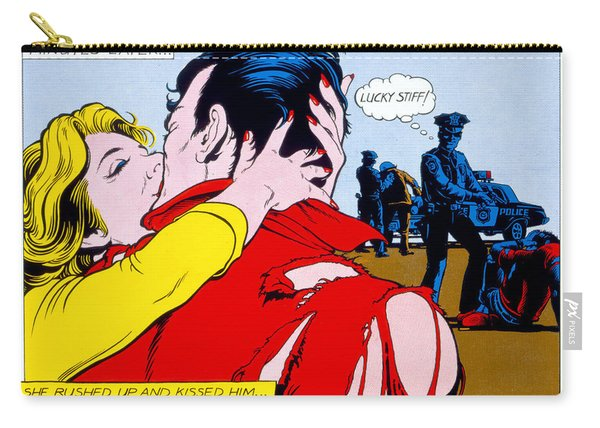 Comic Strip Kiss Carry-all Pouch