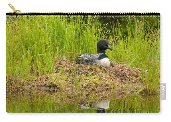 Common Loon Nesting Carry-all Pouch