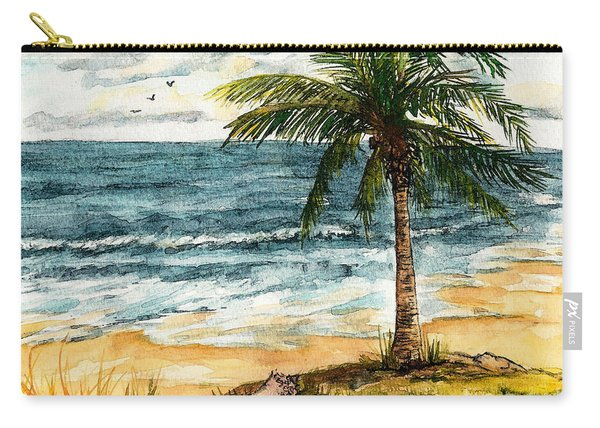 Conch Shell In The Shade Carry-all Pouch