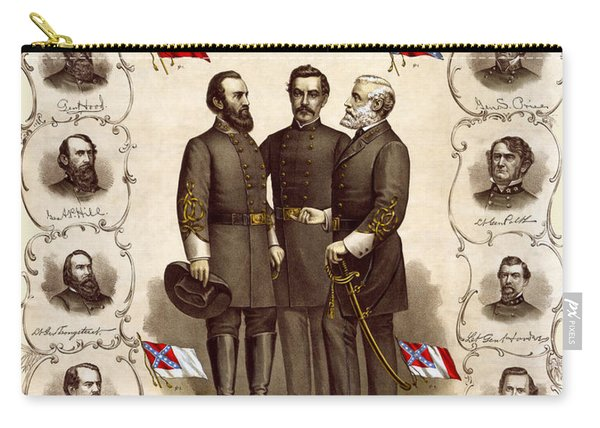 Confederate Generals And Flags Carry-all Pouch
