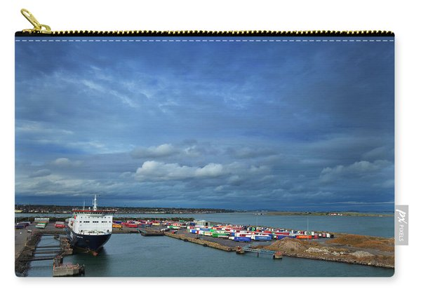 Container Docks At The Mouth Carry-all Pouch