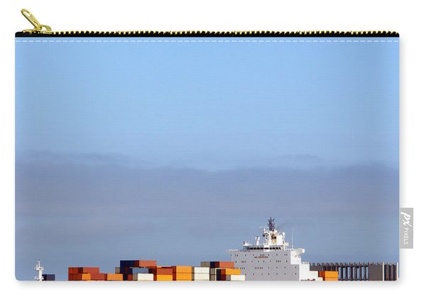 Container Ship At Sea Carry-all Pouch