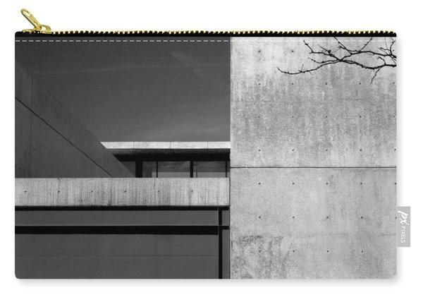 Contemporary Concrete Block Architecture Tree Carry-all Pouch
