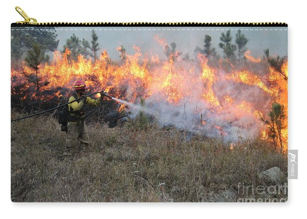 Carry-all Pouch featuring the photograph Cooling Down The Norbeck Prescribed Fire. by Bill Gabbert