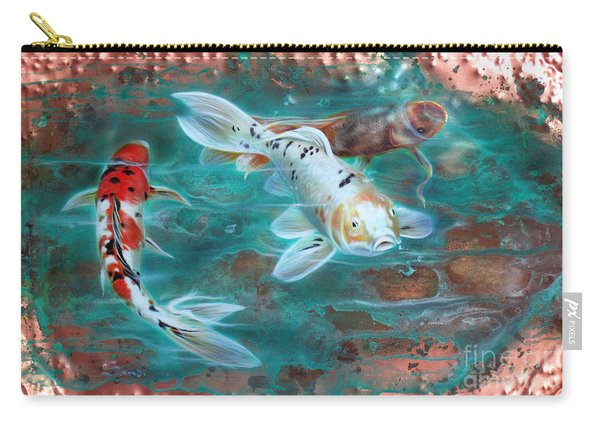 Copper Koi Carry-all Pouch