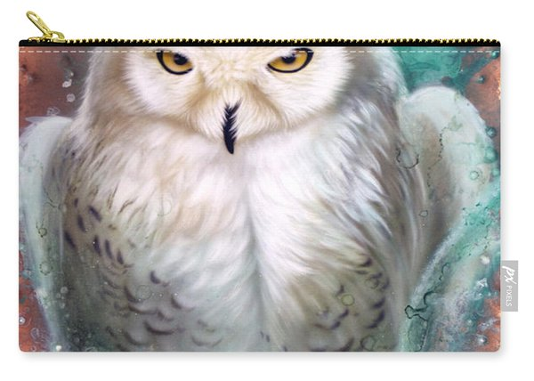 Copper Snowy Owl Carry-all Pouch