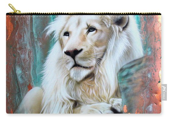 Copper White Lion Carry-all Pouch