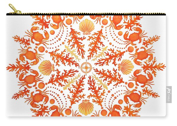 Coral Crab Mandala Carry-all Pouch