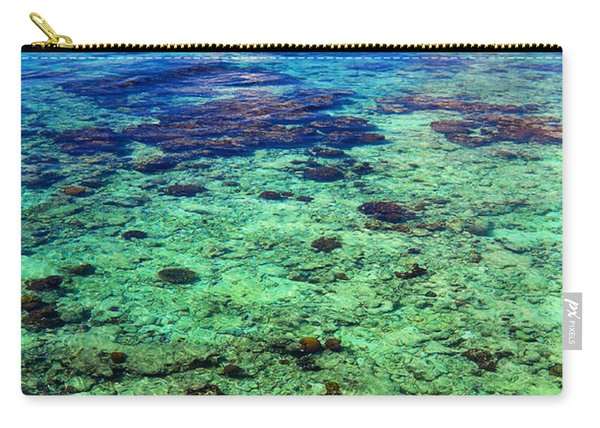 Coral Reef Near The Island At Peaceful Day. Maldives Carry-all Pouch