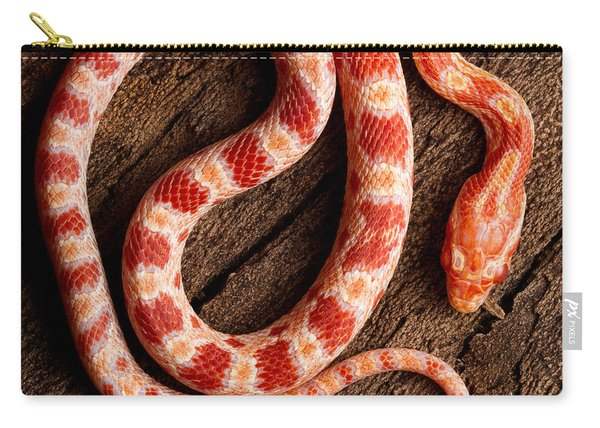 Corn Snake P. Guttatus On Tree Bark Carry-all Pouch