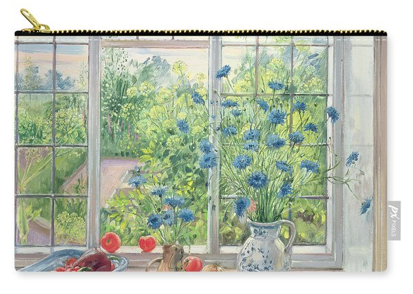 Cornflowers And Kitchen Garden Carry-all Pouch