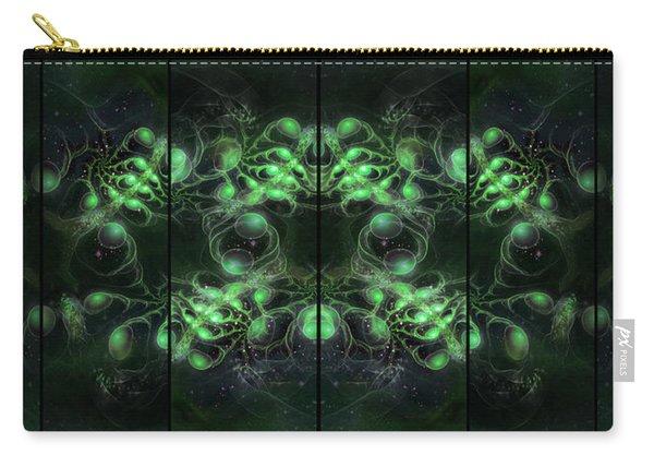 Cosmic Alien Eyes Green Carry-all Pouch