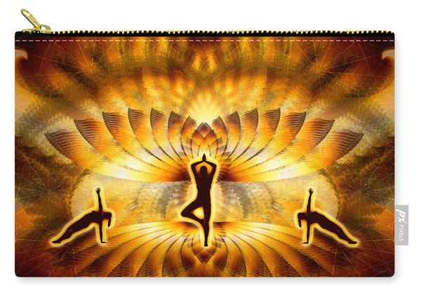 Carry-all Pouch featuring the digital art Cosmic Spiral Ascension 23 by Derek Gedney