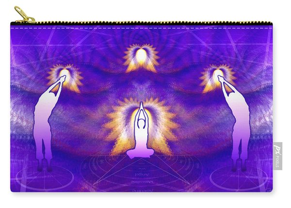 Carry-all Pouch featuring the digital art Cosmic Spiral Ascension 31 by Derek Gedney