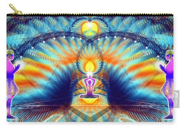 Carry-all Pouch featuring the digital art Cosmic Spiral Ascension 38 by Derek Gedney