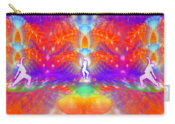 Carry-all Pouch featuring the digital art Cosmic Spiral Ascension 53 by Derek Gedney