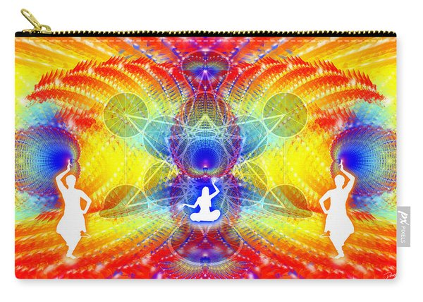 Carry-all Pouch featuring the digital art Cosmic Spiral Ascension 56 by Derek Gedney