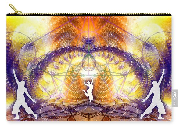 Carry-all Pouch featuring the digital art Cosmic Spiral Ascension 58 by Derek Gedney