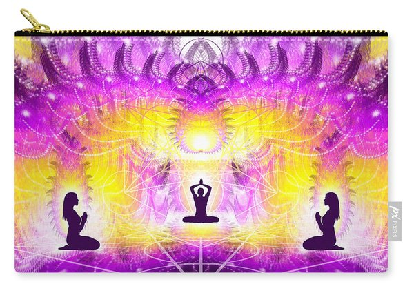 Carry-all Pouch featuring the digital art Cosmic Spiral Ascension 59 by Derek Gedney