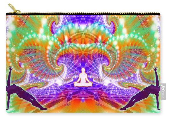 Carry-all Pouch featuring the digital art Cosmic Spiral Ascension 60 by Derek Gedney