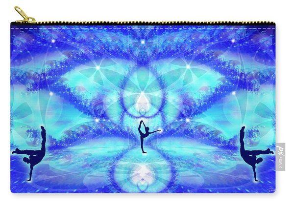 Carry-all Pouch featuring the digital art Cosmic Spiral Ascension 65 by Derek Gedney