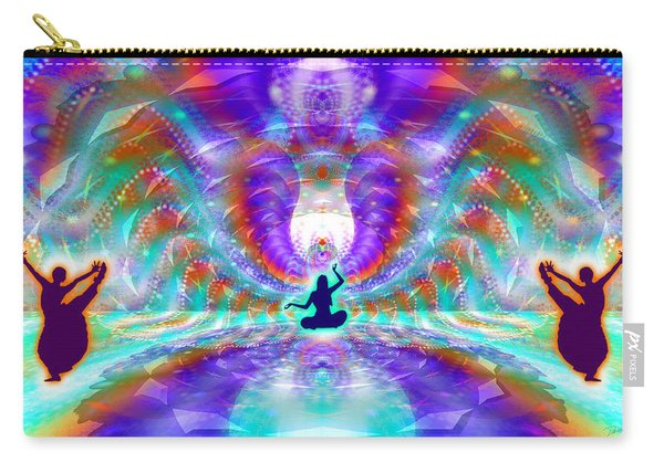Carry-all Pouch featuring the digital art Cosmic Spiral Ascension 71 by Derek Gedney