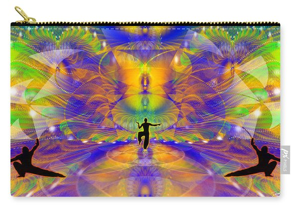 Carry-all Pouch featuring the digital art Cosmic Spiral Ascension 73 by Derek Gedney