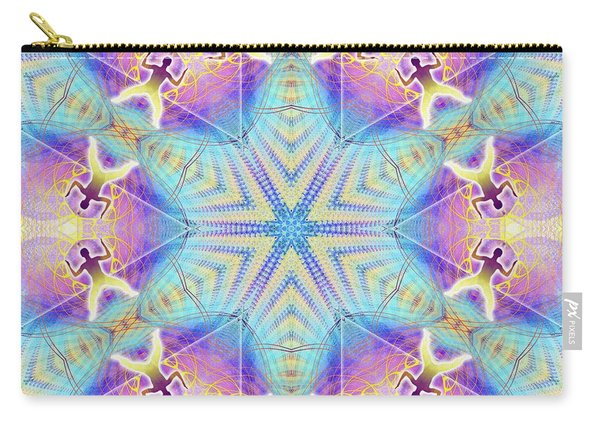 Cosmic Spiral Kaleidoscope 17 Carry-all Pouch