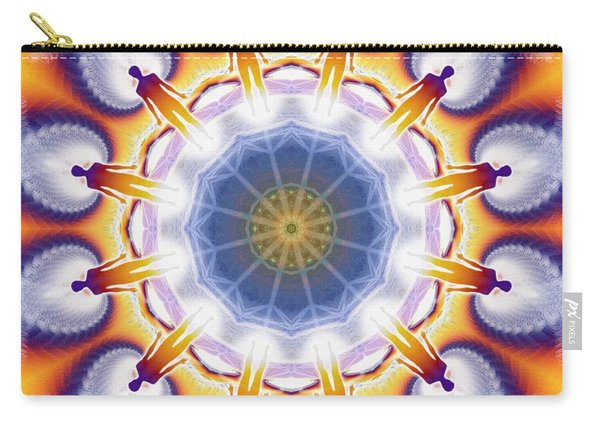 Cosmic Spiral Kaleidoscope 34 Carry-all Pouch