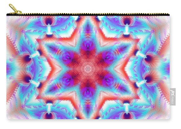 Cosmic Spiral Kaleidoscope 45 Carry-all Pouch