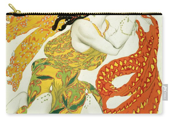 Costume Design For A Bacchante In Narcisse By Tcherepnin Carry-all Pouch