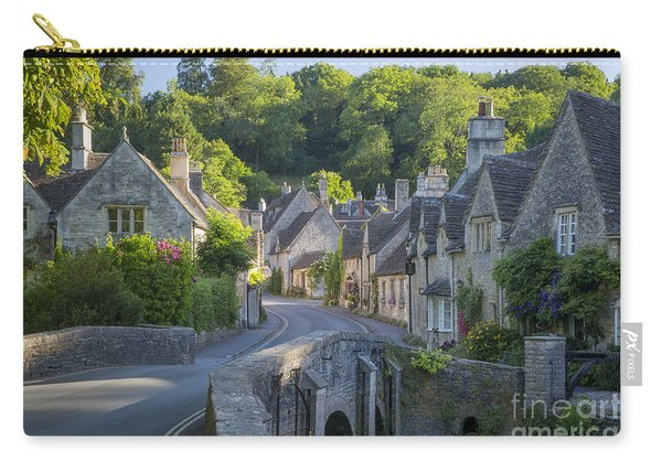 Carry-all Pouch featuring the photograph Cotswold Village by Brian Jannsen